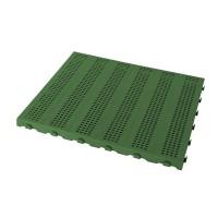 Piastrella in plastica da esterno e giardino. Forata 60x60cm verde.