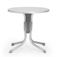 Tavolino Polo 70 di Nardi >>> Struttura Grigio / Anodizzato e Piano Argento