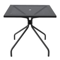 Tavolo quadrato in metallo Estate 80