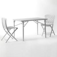 Set tavolo e sedie pieghevoli Zic Zac di Nardi