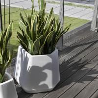 Vasi in plastica resina con finitura naturale vendita online for Vasi grandi da interno