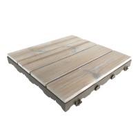 Woodplate Thermowood Bianco | Piastrella in legno