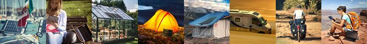 pannelli solari portatili e flessibili per campeggio, camper e barca