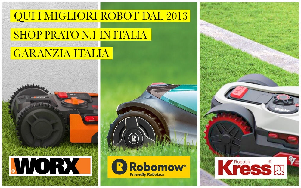 Rivenditore Robot Tagliaerba Worx e Robomow