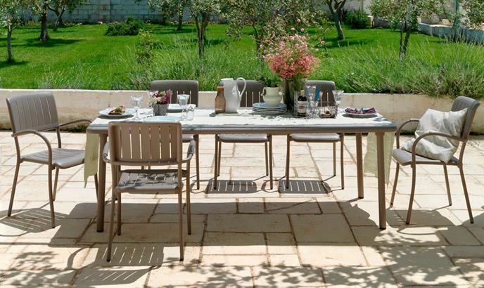 Sedia esterno in alluminio musa nardi