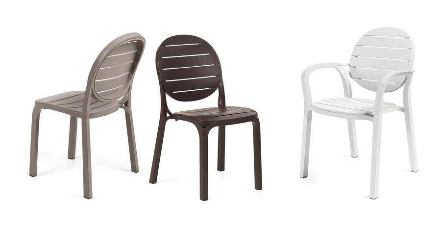 Sedia per esterni in resina erica nardi for Sedie giardino moderne