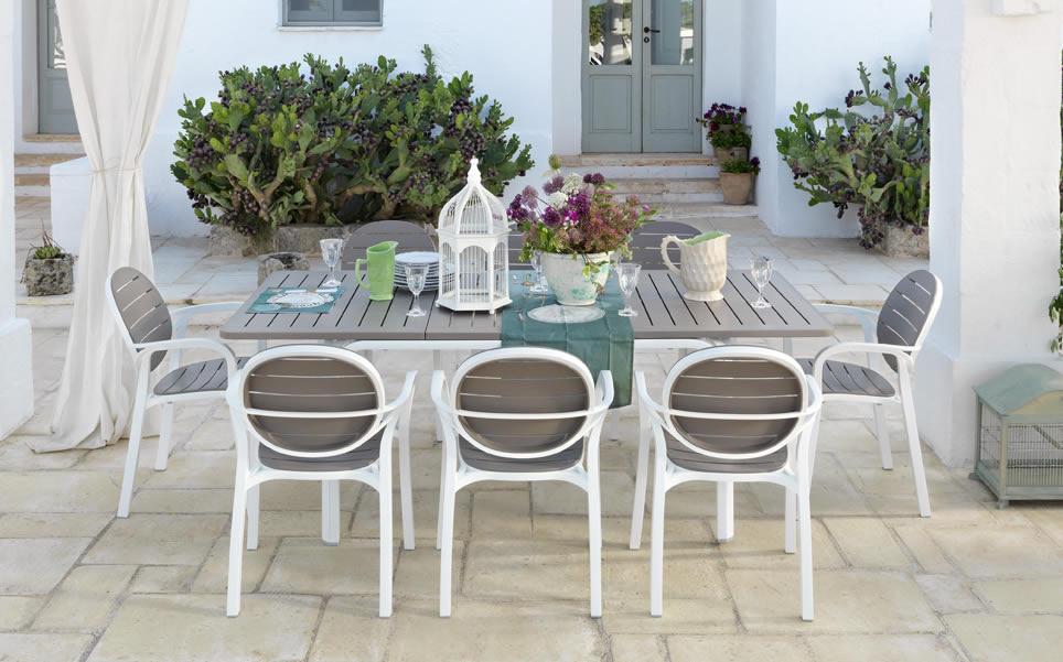 Tavolo da giardino allungabile alloro 140 nardi for Mobili da giardino resina