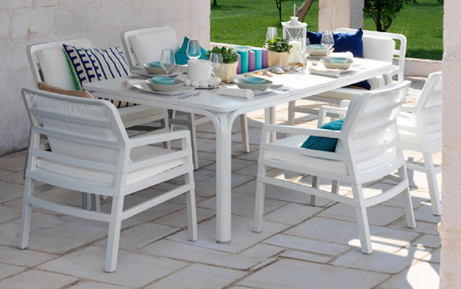 Tavolo da giardino allungabile alloro 210 280 nardi - Tavolo esterno ikea ...