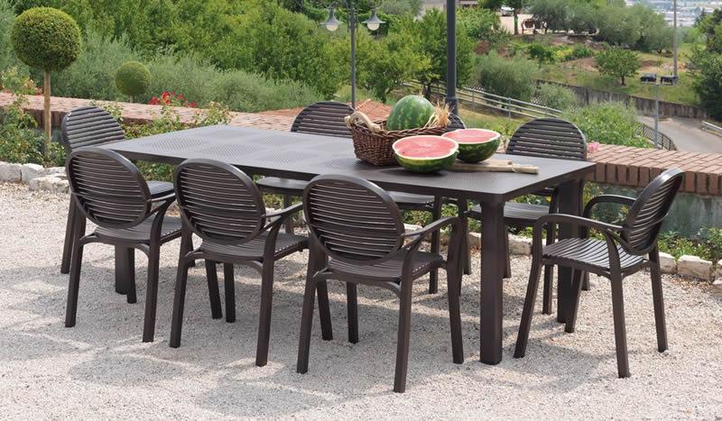 Tavoli E Sedie Da Giardino Resina.Tavolo Da Giardino Allungabile Levante Nardi