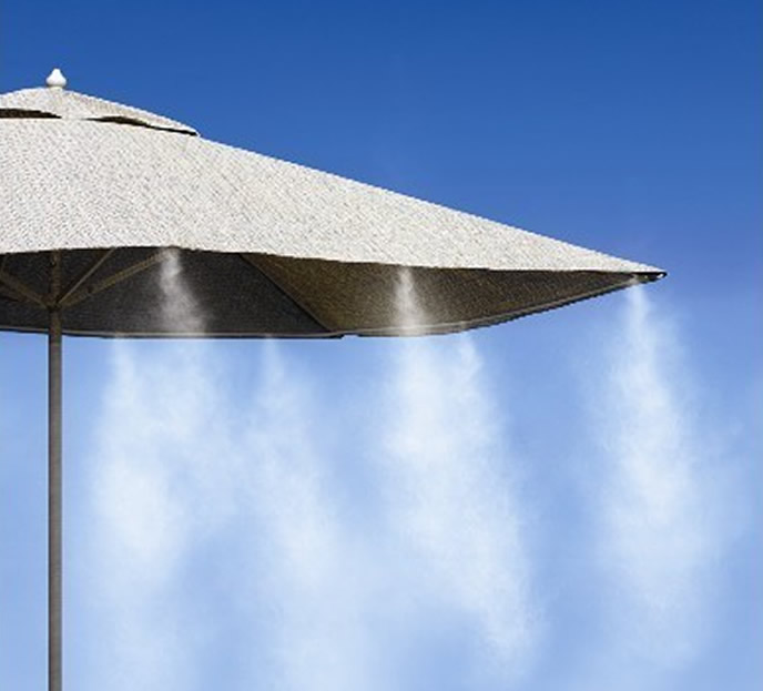 Nebulizzatore acqua per raffrescamento da esterno e giardino